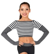 Girls Stripe Crop Top
