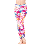 Girls Digital Floral Printed Ankle Leggings