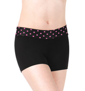 Girls Polka Dot Waistband Dance Shorts