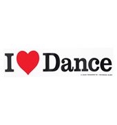 I Love Dance Bumper Sticker