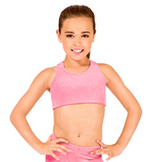 Child Stardust Velvet Gymnastic Racer Back Bra Top
