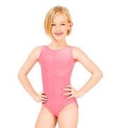 Child Stardust Velvet Gymnastic Tank Leotard