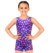 Child Ditsy Floral Velvet Tank Biketard