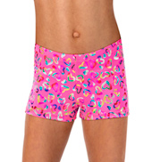 Girls Foil Heart Shorts