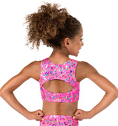 Girls Foil Heart Racerback Tank Bra Top