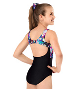 Girls Hologram Open Back Tank Leotard