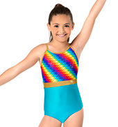 Girls Pixel Pop Camisole Leotard