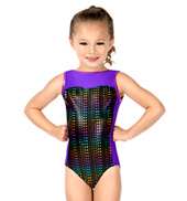Child Matrix Tracer Boatneck Tank Leotard