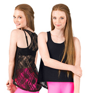 Girls Hi-Lo Lace Back Tank Top