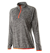 Ladies Long Sleeve Zip Front Top
