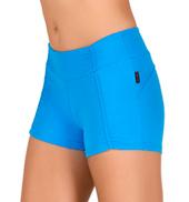 Womens Gathered Athletic Shorts