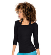 Womens 3/4 Sleeve Fitness Tee