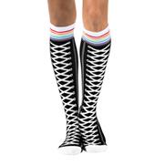 Womens Sneaker Knee High Dance Socks