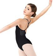 Girls Floral Lace X-Back Camisole Leotard