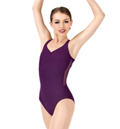 Womens Multi-Strap Back Mesh Leotard