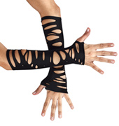 Adult Distressed Elbow-Length Gloves