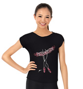 Girls Ballerina Graphic Short Sleeve Tee