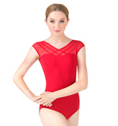 Adult Altair Short Sleeve Powermesh Front Leotard