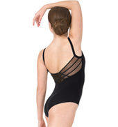 Womens Crisscross Mesh Back Camisole Leotard