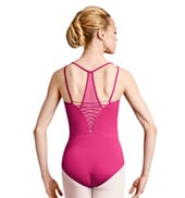 Womens Lace-up Camisole Leotard