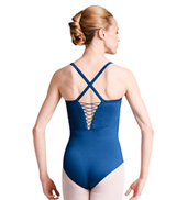 Womens Strappy X-Back Camisole Leotard