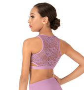 Child Lace Back Tank Dance Crop Top