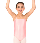 Girls Satin Basic Camisole Leotard