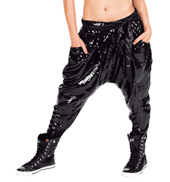 Adult Sequin Capri Harem Pants