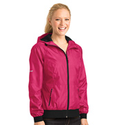 Ladies Embossed Hooded Jacket