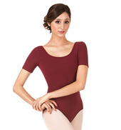 Adult Brushed Cotton Short Sleeve Dance Leotard