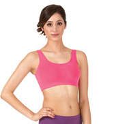 Adult Brushed Cotton Tank Dance Bra Top