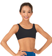 Girls Brushed Cotton Tank Dance Bra Top