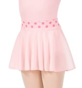 Girls Polka Dot Pull-On Ballet Skirt