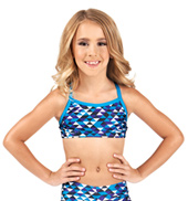 Girls Gymnastics Camisole Bra Top