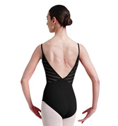 Adult Lattice Elastic Trim Back Camisole Leotard
