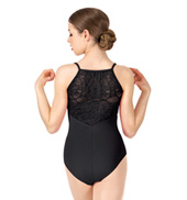 Womens Crotchet Lace Camisole Leotard