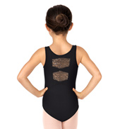 Child Tank Sequin Bow Back Leotard