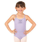 Girls Scalloped Lace Front Camisole Leotard