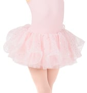 Girls Hologram Sequin Wired Hem Tutu Ballet Skirt