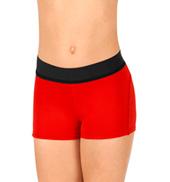 Girls Elastic Waist Dance Shorts