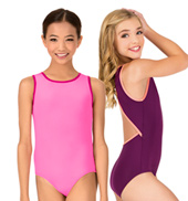 Girls Basia High Neck Tank Dance Leotard