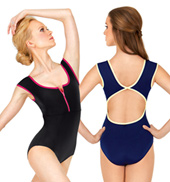 Adult Danica Zip Front Cap Sleeve Leotard