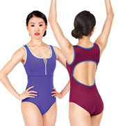 Adult Kira Zip Front Tank Leotard