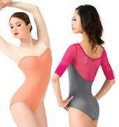 Sofya Mesh Long Sleeve Leotard