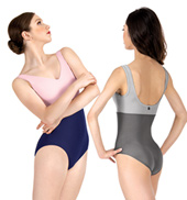 Adult Tasha V-Neck Two-Tone Tank Leotard
