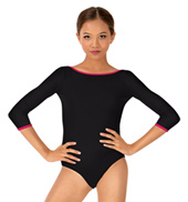 Girls Lara Class Essential 3/4 Sleeve Leotard