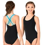 Girls Talya Class Essential Double Strap Camisole Leotard