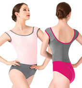 Adult Asya Princess Seam Short Sleeve Leotard