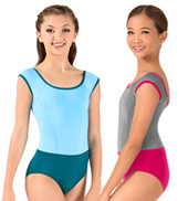 Girls Asya Princess Seam Short Sleeve Leotard