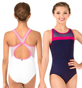 Girls Lena Mesh Racerback Tank Leotard